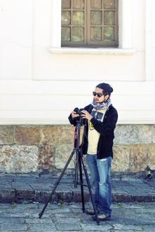 Camarógrafo en conflicto de calor y frío.