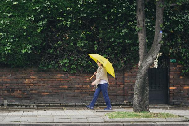 Una amarilla